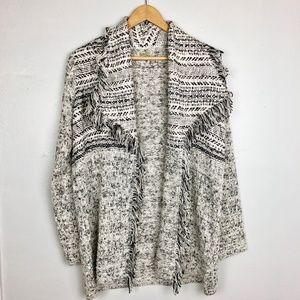 Lucky Brand | Black & White Long Cardigan - Sz S